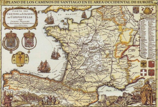 Mapa-antiguo-Camino-Santiago